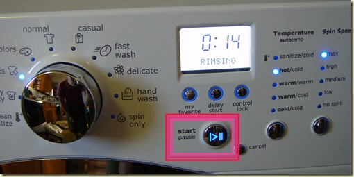 washer button